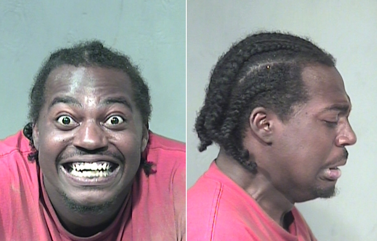 Arrested for theft, trespassing.