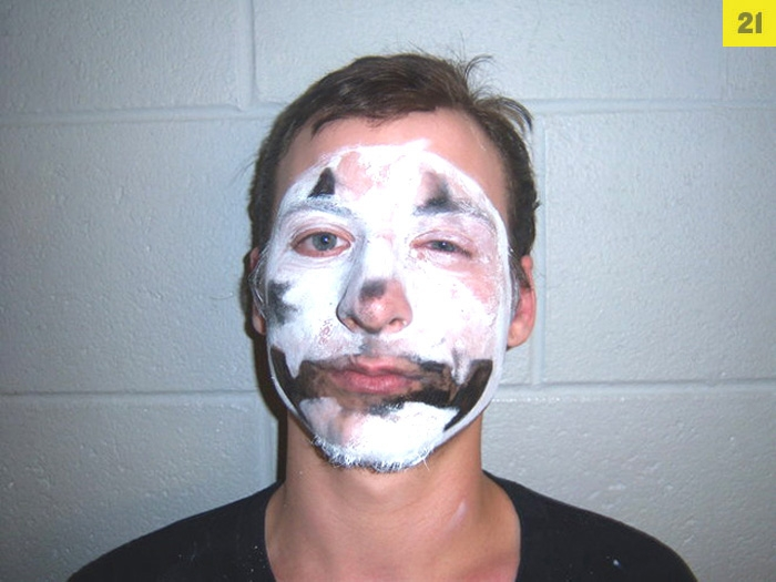 Andrew Davis, 20, was busted in May for allegedly striking a man with his car, d