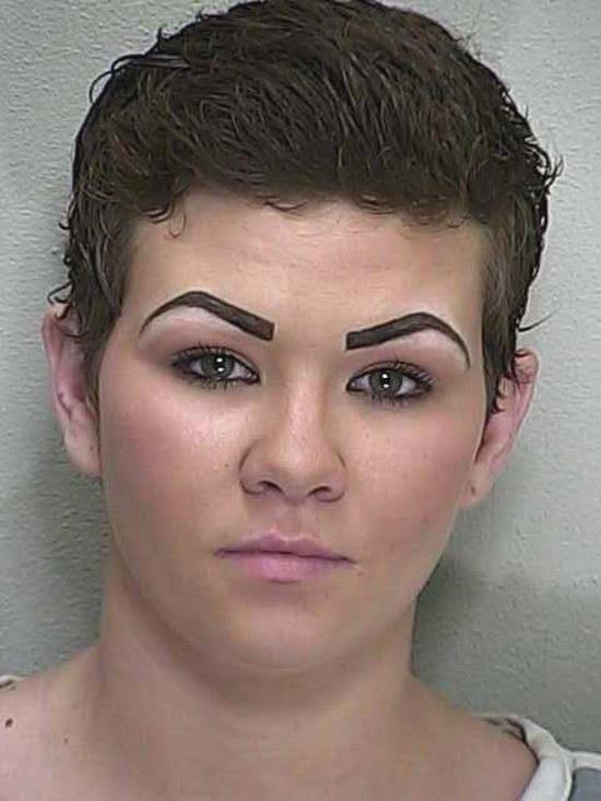 Arrested for a traffic violation.