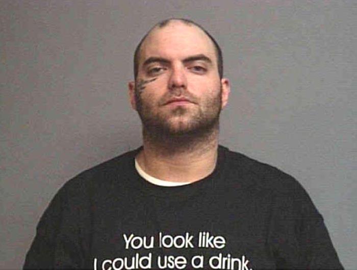 Serving jail sentence for a probation violation.