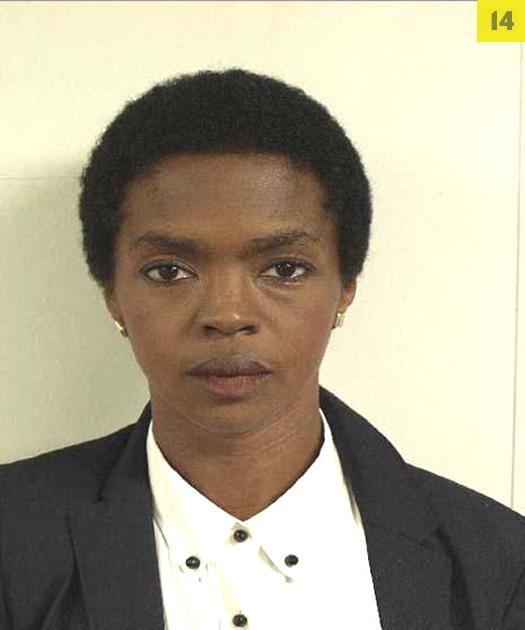 Singer Lauryn Hill posed for the United States Marshals Service after being char