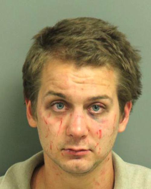 Arrested for strangulation, assault.